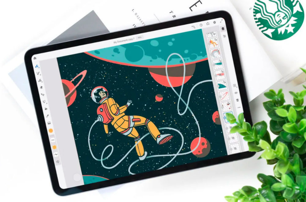 Adobe Fresco 1000x661 Adobe propose Photoshop et Fresco sur iOS dans un abonnement regroupé pour 10,99 euros par mois