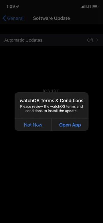 Apple Watch watchOS 6 Mises a Jour 3 Apple Watch : il serait bientôt possible deffectuer les mises à jour depuis la montre