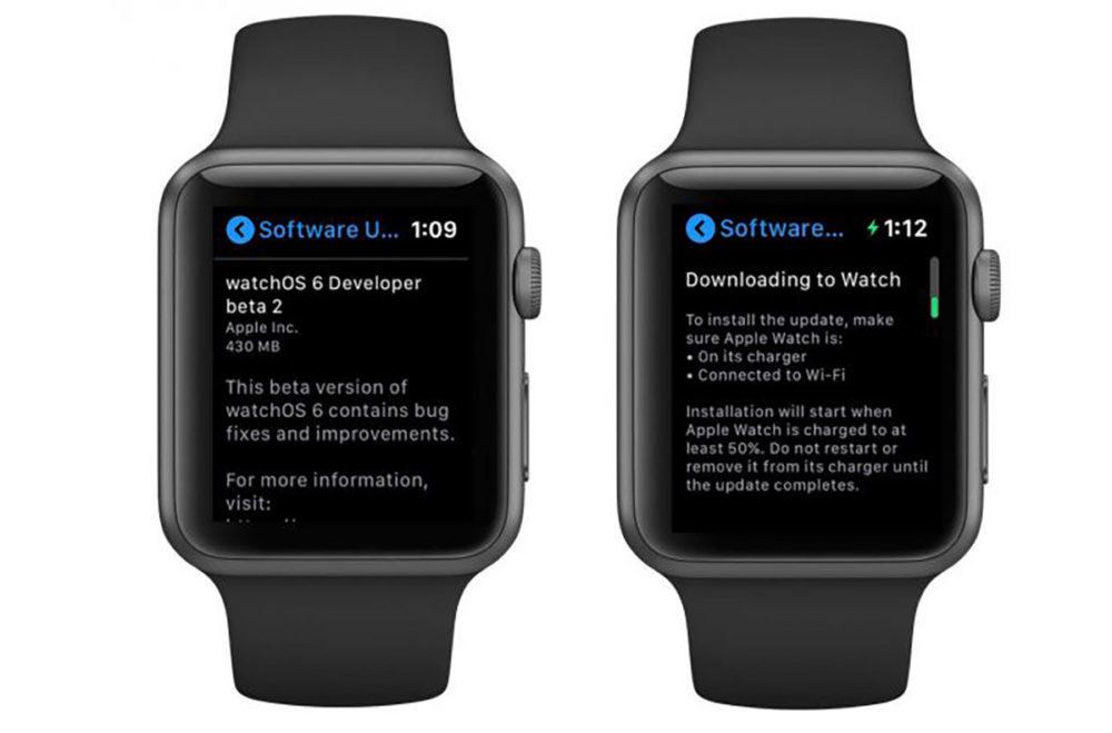 Apple Watch watchOS 6 Mises a Jour OTA 1000x659 Apple Watch : il serait bientôt possible deffectuer les mises à jour depuis la montre