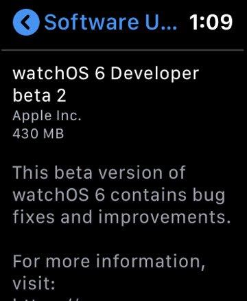 Apple Watch watchOS 6 Mises a Jour Apple Watch : il serait bientôt possible deffectuer les mises à jour depuis la montre