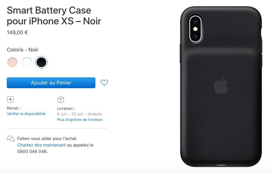 Smart Battery Case Non Disponible Les Smart Battery Case des iPhone XS/XS Max et XR sont en rupture de stock