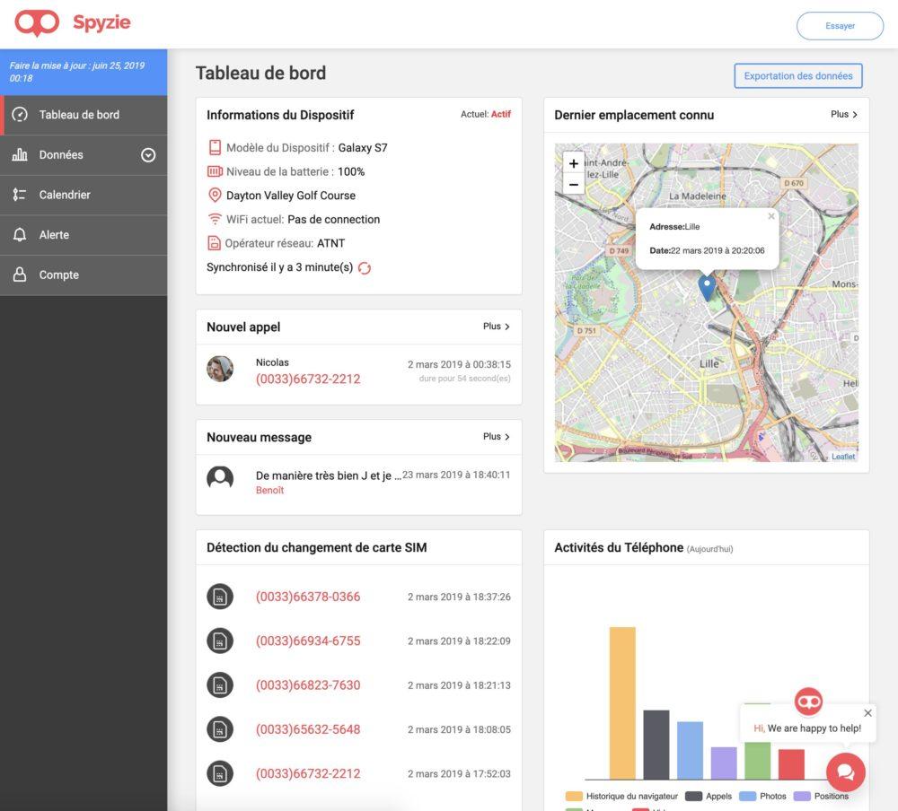 Spyzie6 Spyzie : mobile tracker et localiser un iPhone perdu