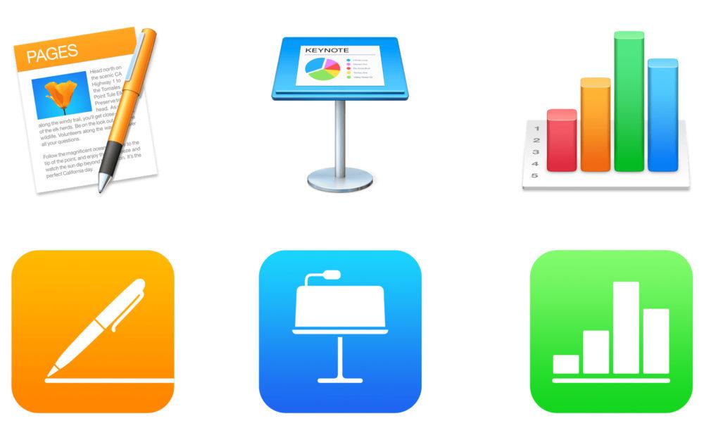 Suite iWork Apple 1000x625 Apple met à jour Pages, Keynote et Numbers sur Mac et ajoute les dossiers partagés sur iCloud Drive