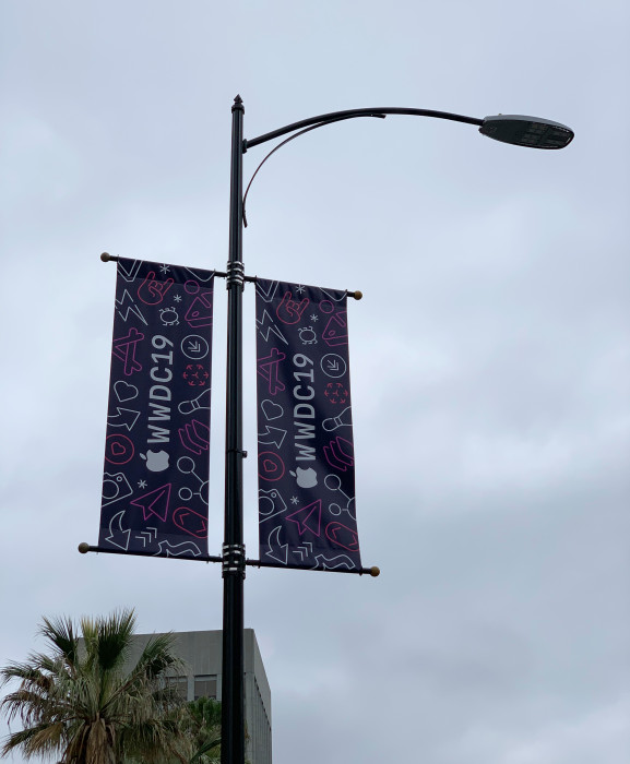WWDC 2019 Decoration 3 WWDC 2019 : Apple commence à décorer le McEnery Convention Center pour la keynote