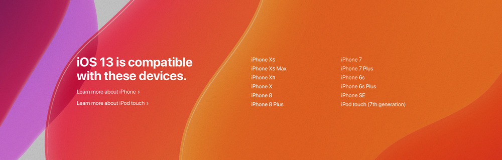 appareils compatible ios 13 Liste des iPhone et iPod touch compatibles iOS 13