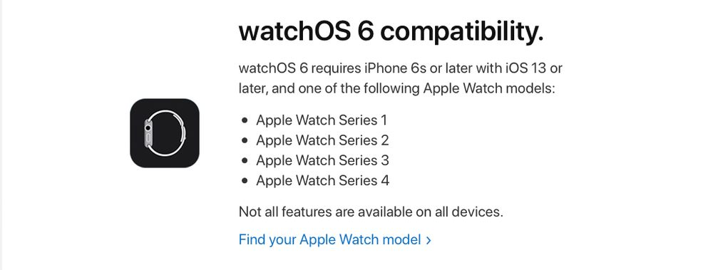 appareils compatible watchos 6 Liste des Apple Watch compatibles avec watchOS 6