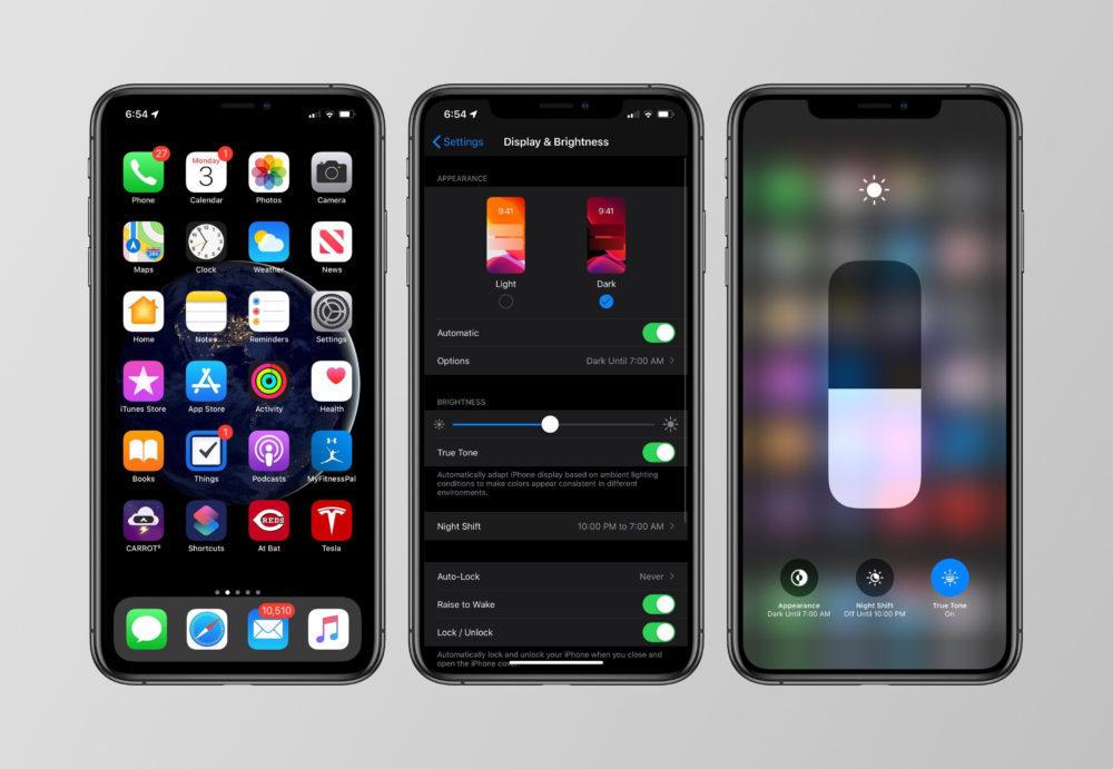 apple ios 13 mode sombre 1000x691 La version finale diOS 13.3 sera disponible au téléchargement la semaine prochaine