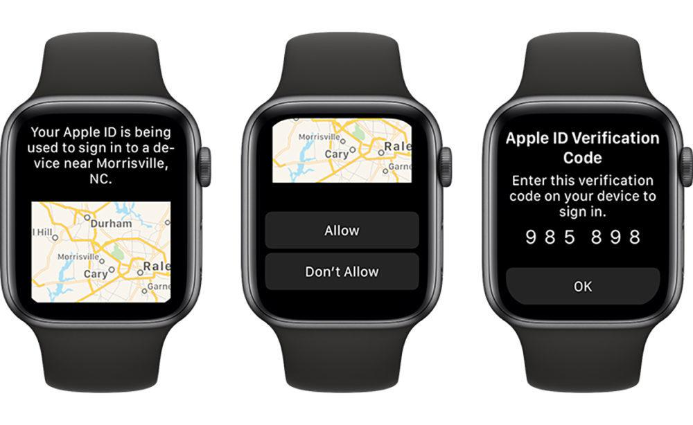 apple watch compte apple code verification watchos 6 1000x614 Apple Watch : vous pouvez recevoir le code de validation de votre Apple ID avec watchOS 6