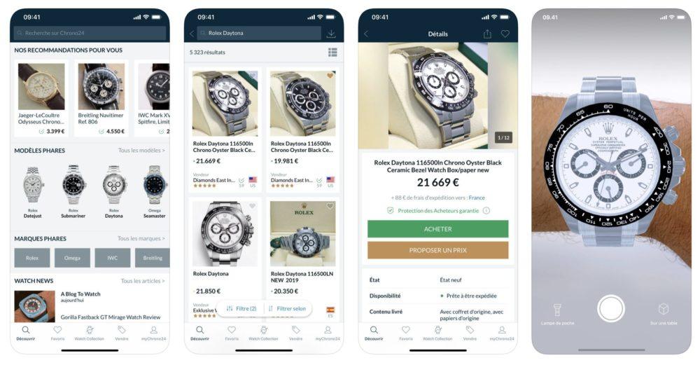 chrono24 iphone Chrono24 : une application iOS au service de lhorlogerie de luxe