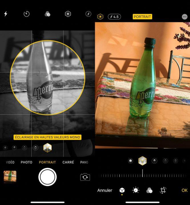 iOS 13 Appareil Photo Eclairage Hautes Valeurs Mono iOS 13 bêta 2 : voici la liste des nouveautés