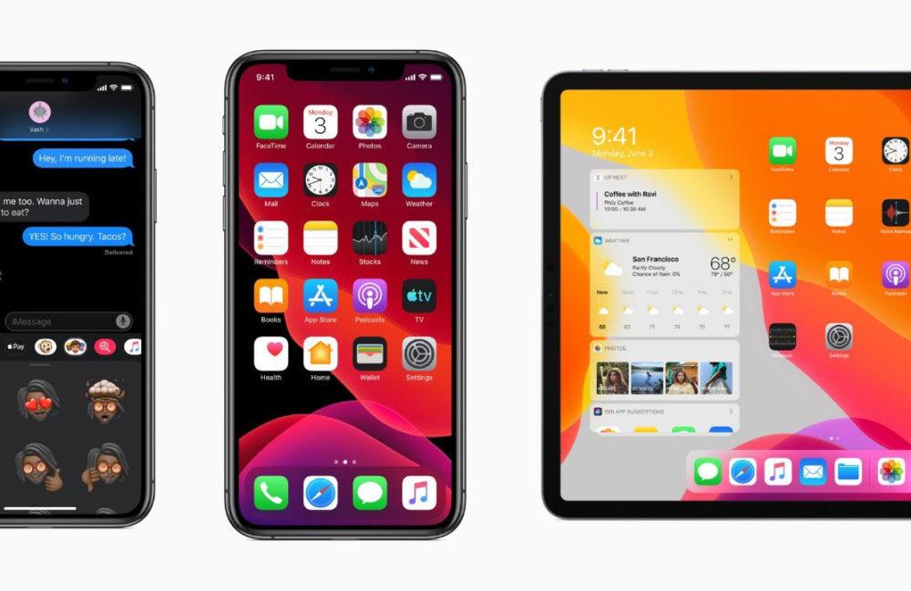 iPhone XS XS Max iOS 13 iPad Pro iPadOS 13 1000x649 Apple indique quiOS 13 tourne sur 50% des iPhone et iPod touch, iPadOS sur 33% des iPad