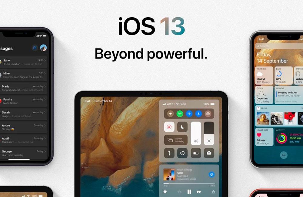 ios13 nouveautes Gros plans sur les nouveautés iOS 13 et iPadOS 13