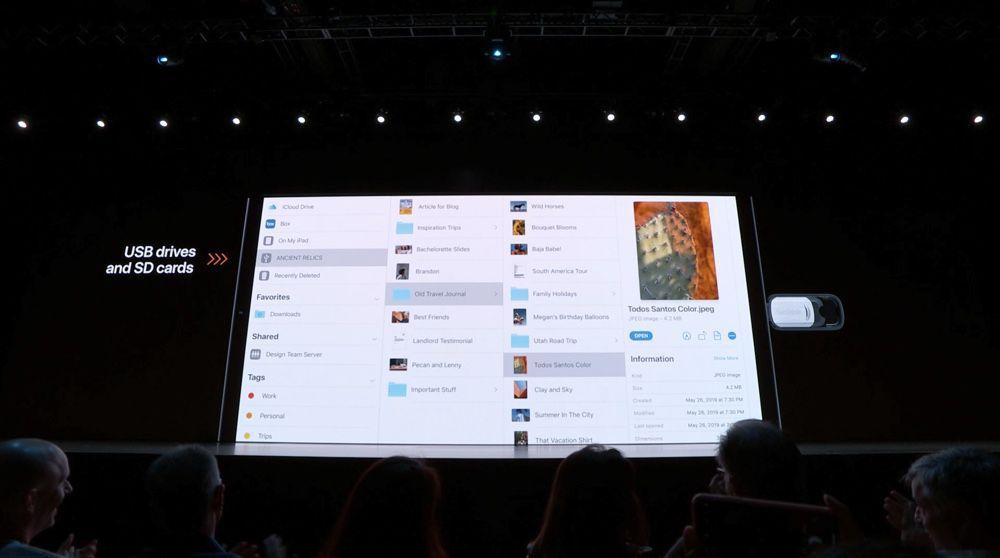 ipados 13 usb WWDC 2019 : iPadOS encore plus proche de macOS