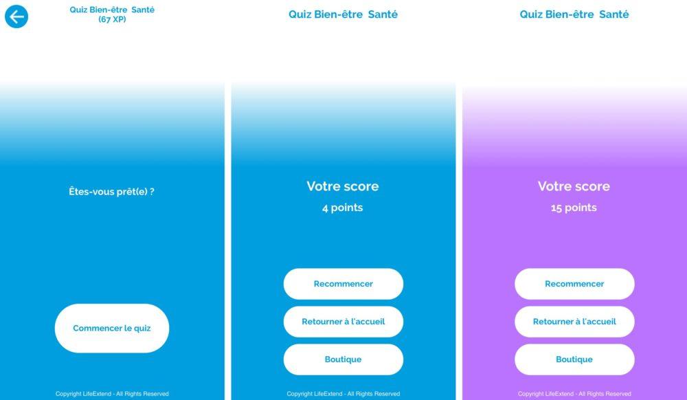 iphone lifextend quiz 1 Life Xtend, l'application qui prévient les risques de santé et améliore votre qualité de vie