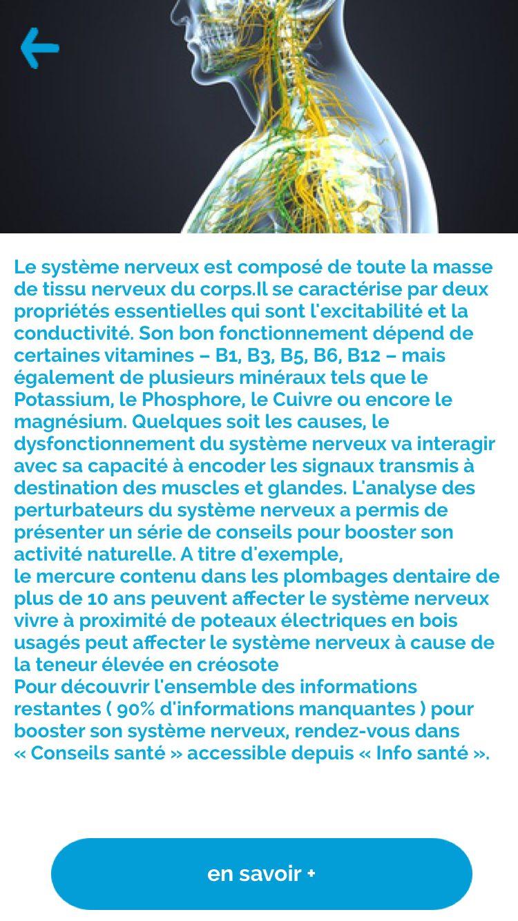 iphone lifextend systeme nerveux 1 Life Xtend, l'application qui prévient les risques de santé et améliore votre qualité de vie
