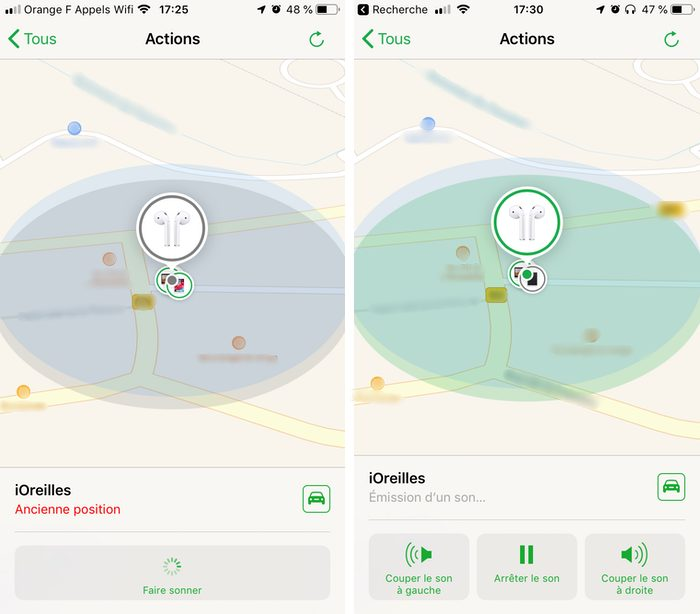 iphone localiser airpods sonnerie Comment localiser ses AirPods avec l'iPhone