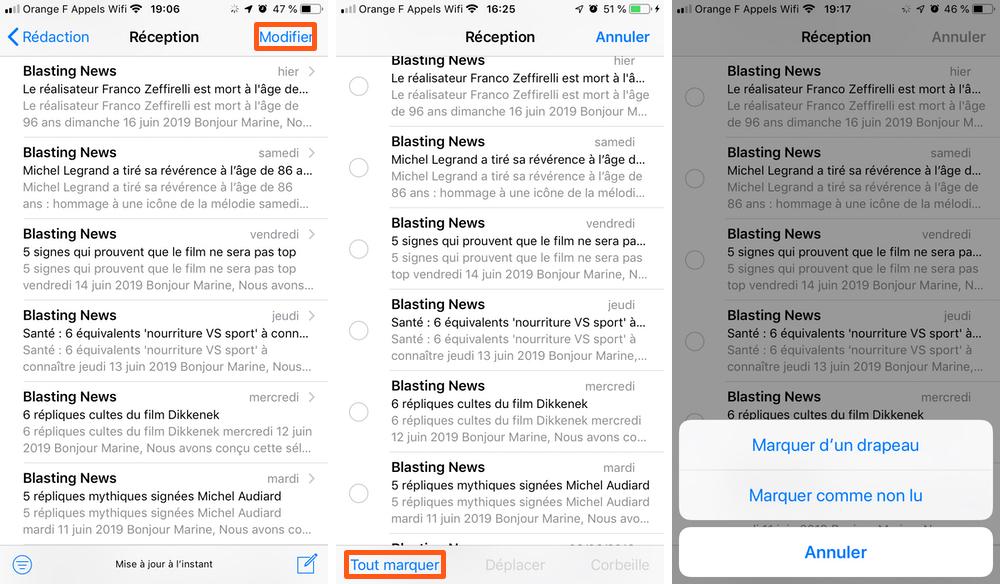 iphone mail tout marquer Comment tout sélectionner pour supprimer les e mails sur iPhone