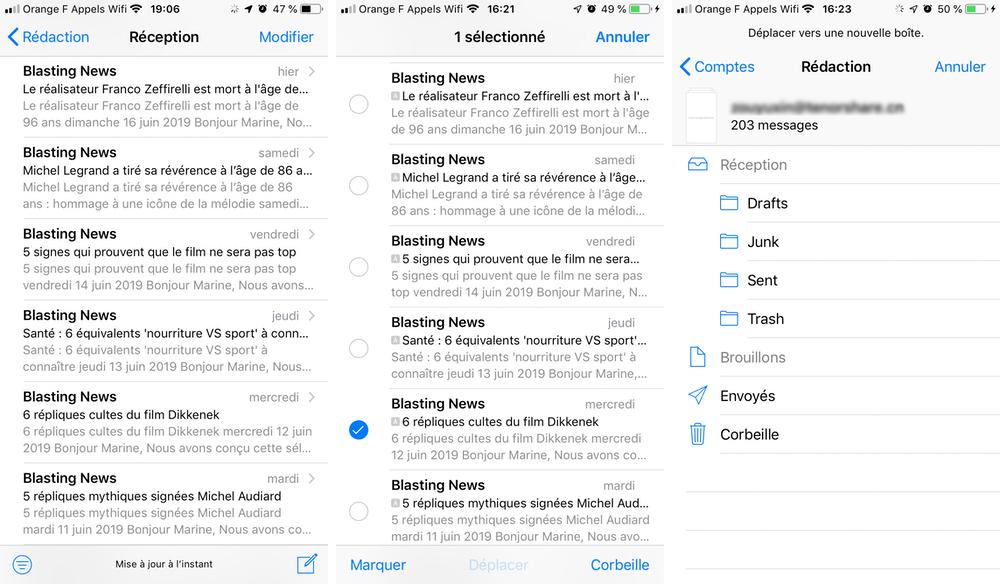 iphone mail tout supprimer Comment tout sélectionner pour supprimer les e mails sur iPhone