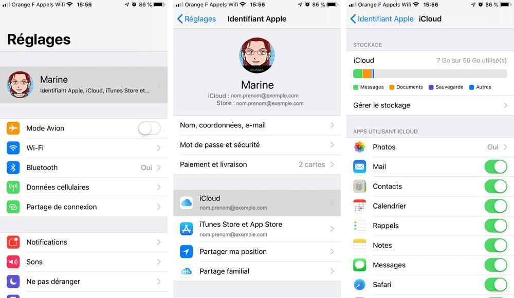 iphone reglages icloud Comment télécharger et configurer iCloud sur iPhone