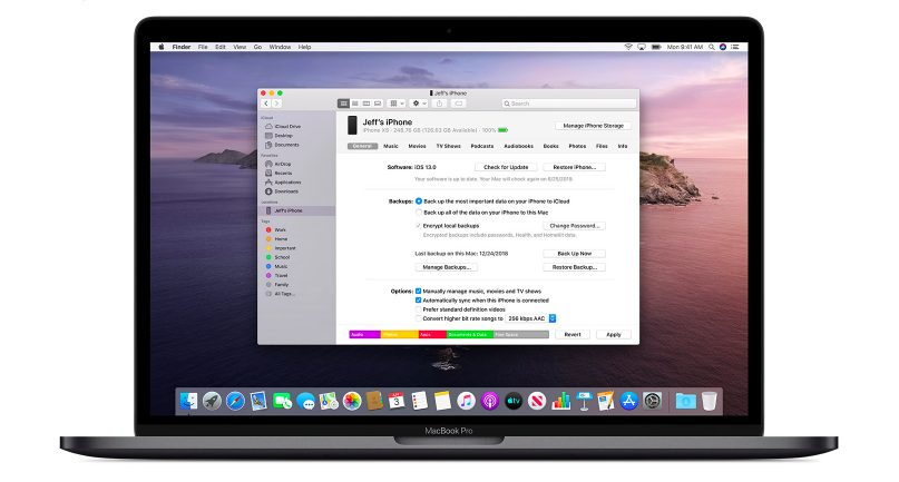 macOS Catalina Finder Synchronisation Apple donne une explication concernant les modifications à venir avec iTunes sur macOS Catalina