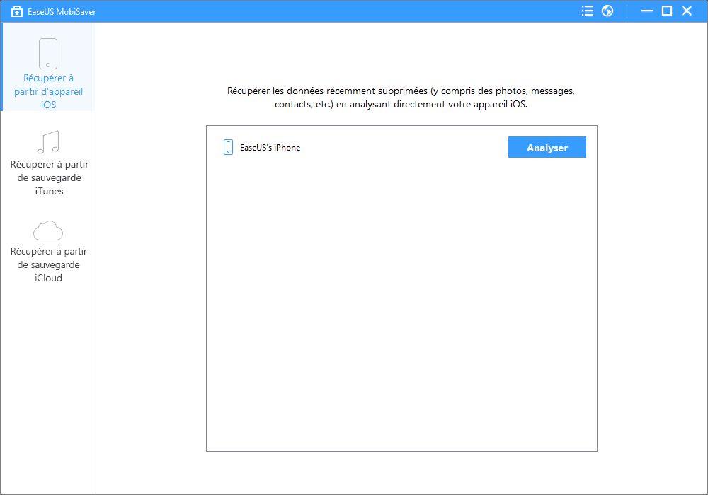 mobisaver recover data from device step1 [PROMO  50%] EaseUS Mobisaver : récupérer les données supprimées sur votre iPhone