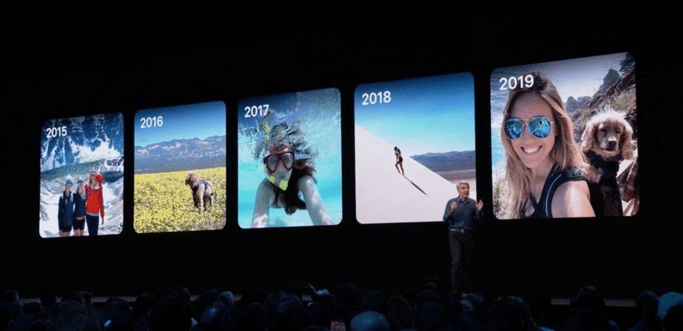 organiser photos ios13 WWDC 2019 : iOS 13 avec le mode sombre et plus encore