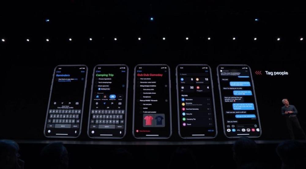 rappels ios 13 WWDC 2019 : iOS 13 avec le mode sombre et plus encore