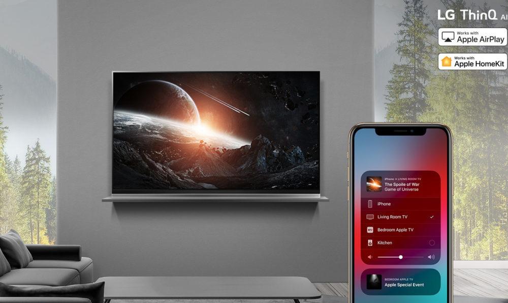 AirPlay2 on 2019 LG ThinQ AI TVs 1000x596 AirPlay 2 et HomeKit dApple débarqueront sur les TV de LG à partir de demain