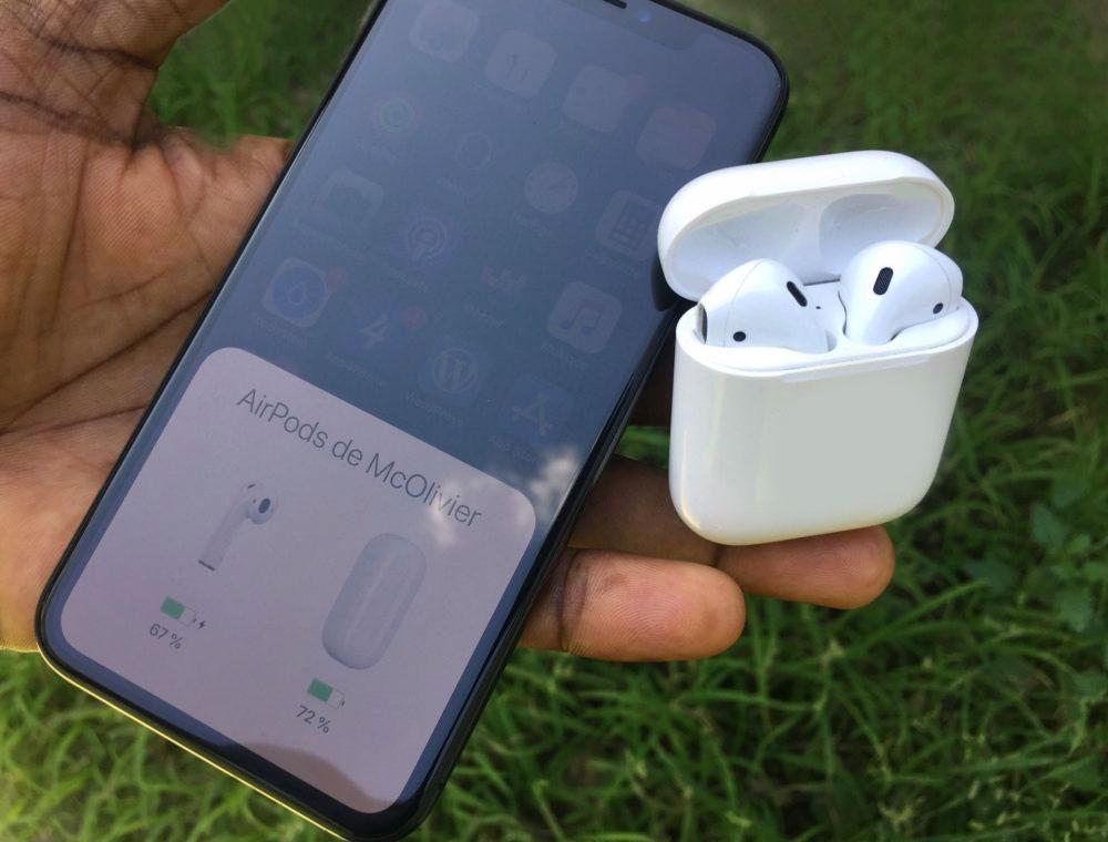AirPods iPhone X appsystem Comment voir le pourcentage de batterie de ses AirPods