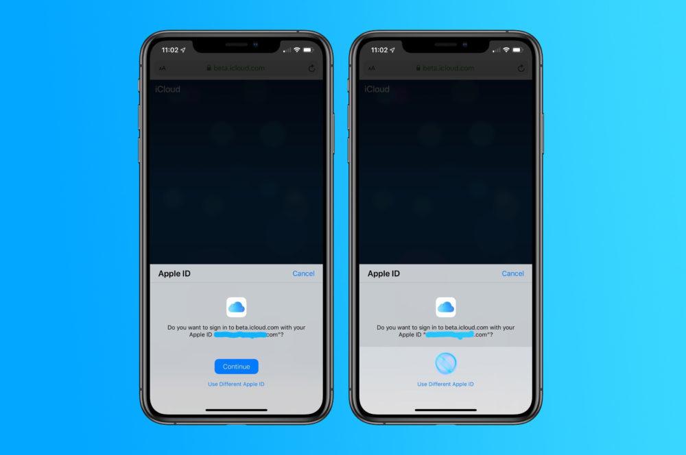 Connecter a iCloud Face ID Touch ID 1000x664 Il serait possible dutiliser Touch ID et Face ID pour se connecter à iCloud․com sur iOS 13 et macOS Catalina