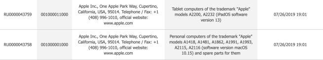 References iPad Automne 2019 Des références de 2 nouveaux iPad font surface dans la base de données de lEEC