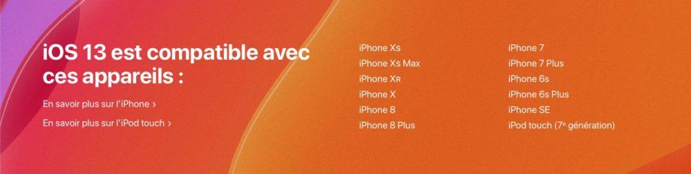 appareils compatible ios 13 Comment télécharger et installer la bêta iOS 13 sur son iPhone