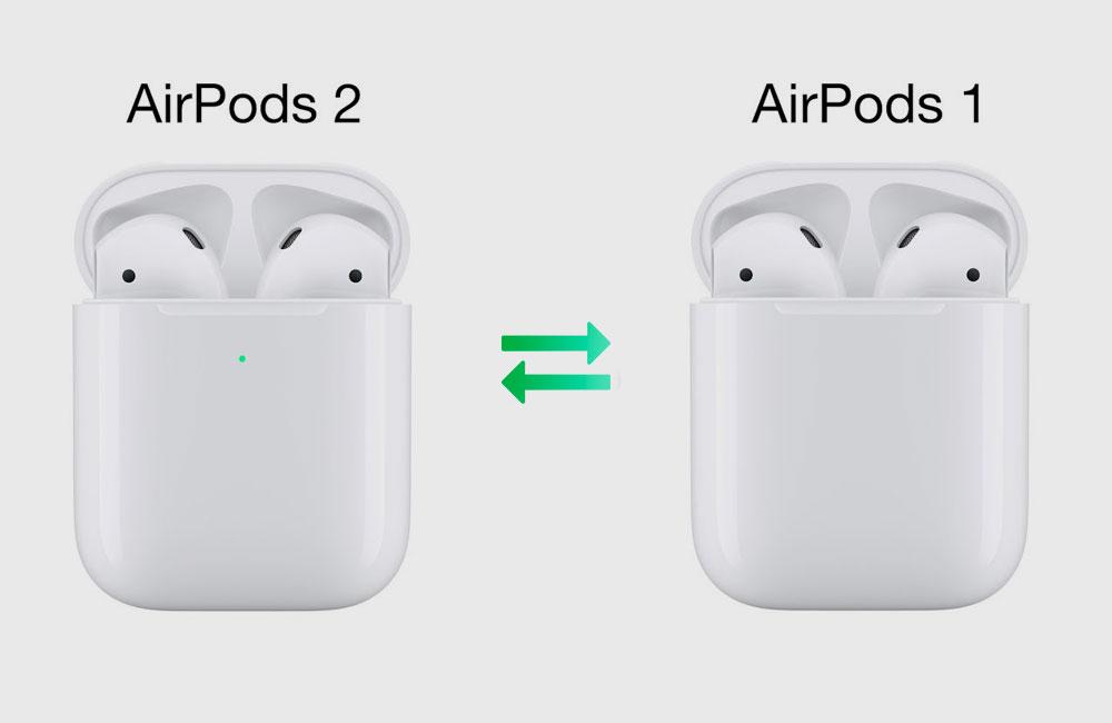 differences airpods 1 et 2 Les différences entre les AirPods 1 et 2