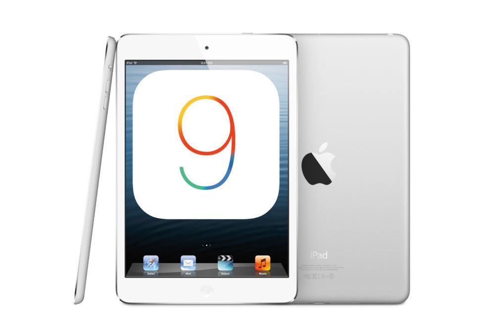iOS 9 Apple iPad mini 1000x669 iOS 9.3.6 et iOS 10.3.4 sont disponibles sur les anciens iPhone et iPad pour corriger un bug du GPS