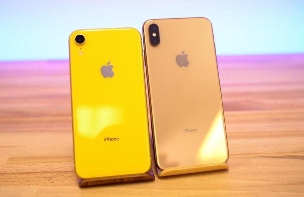 iPhone XR Jaune vs iPhone XS Max Or 1000x648 Les iPhone XS et XR estampillés Made in India arriveront au mois daoût