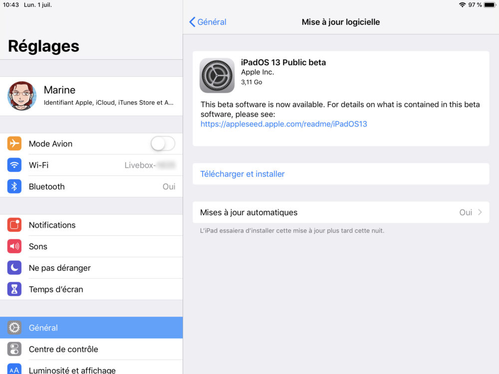 ipad maj beta ipados 1 Comment télécharger et installer la bêta iOS 13 sur son iPhone