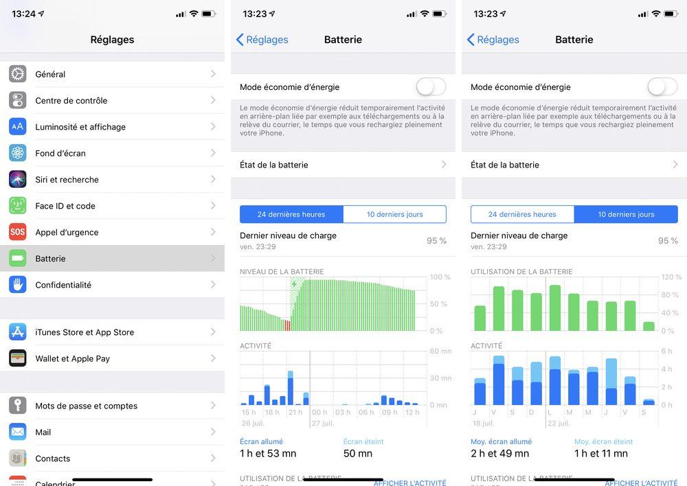 iphone batterie Les nouveautés majeures apportées par iOS 12