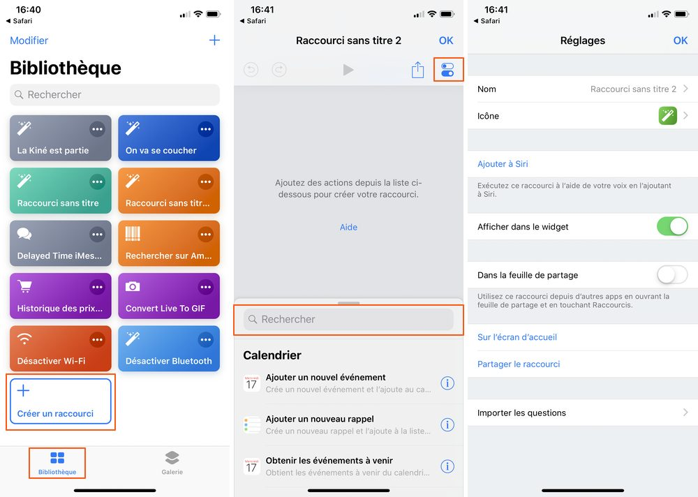 iphone creer raccourcis Les raccourcis iOS à connaître pour un meilleur usage de son iPhone