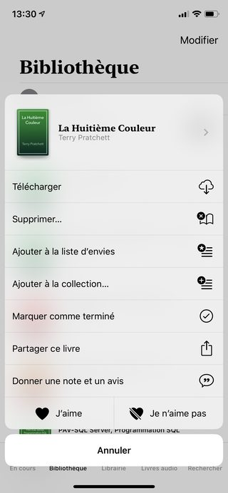 iphone ibooks livres Les nouveautés majeures apportées par iOS 12