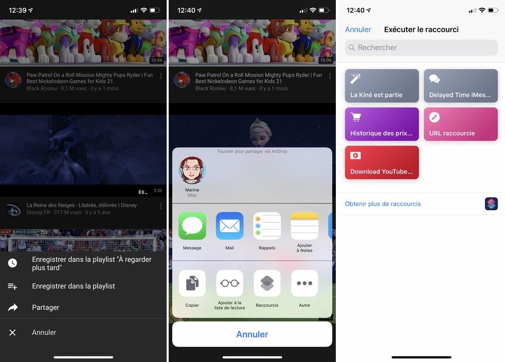 iphone raccourcie video youtube Les raccourcis iOS à connaître pour un meilleur usage de son iPhone