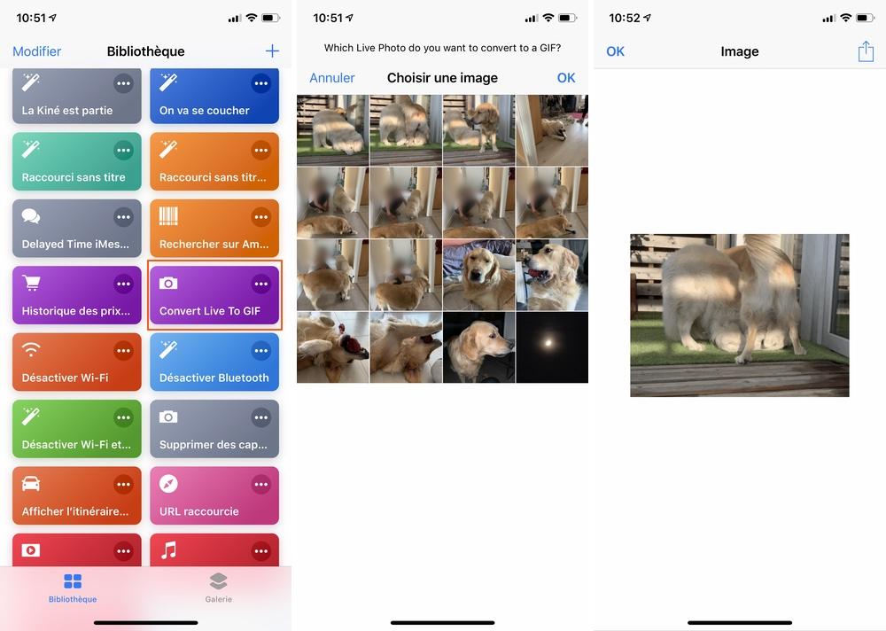 iphone raccourcis convert live photo gif Les raccourcis iOS à connaître pour un meilleur usage de son iPhone