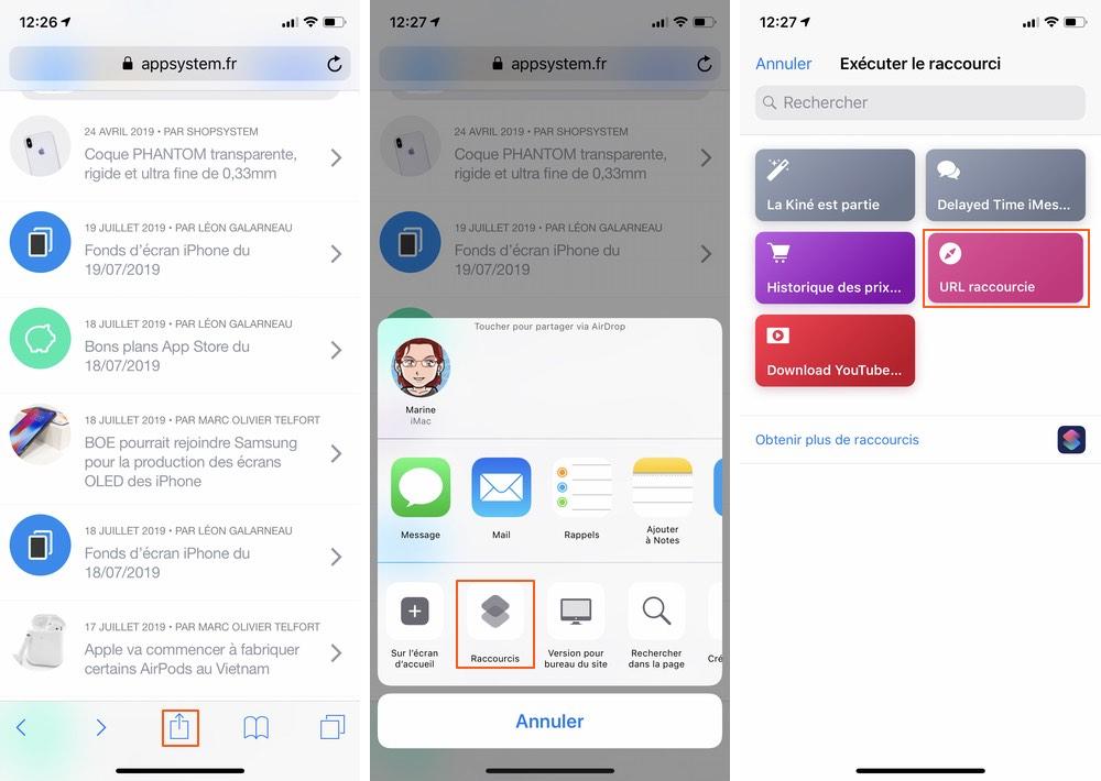 iphone raccourcis url Les raccourcis iOS à connaître pour un meilleur usage de son iPhone
