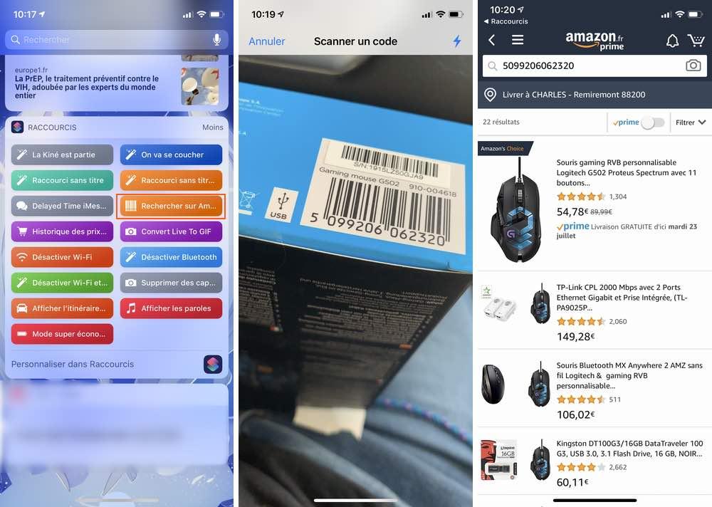 iphone recherche scan amazon Les raccourcis iOS à connaître pour un meilleur usage de son iPhone