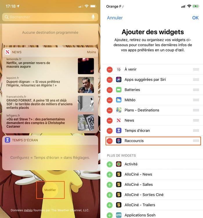 iphone widget raccourcis Les raccourcis iOS à connaître pour un meilleur usage de son iPhone