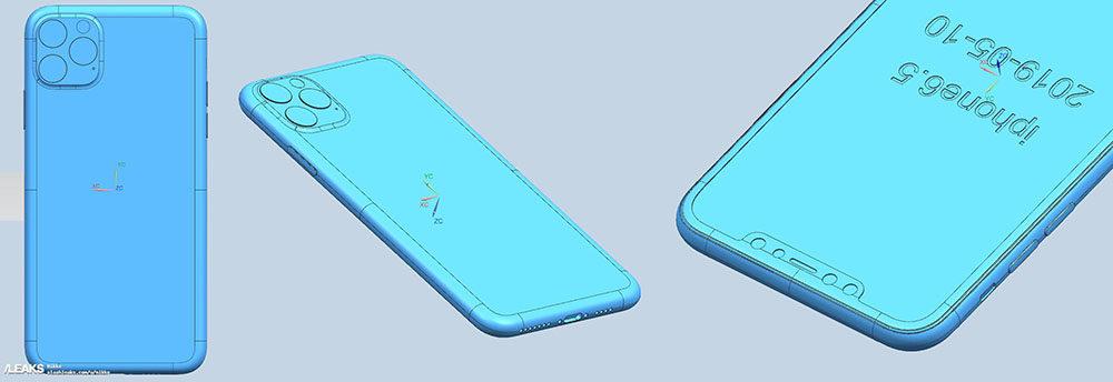 iphone xi max cad 1000x344 iPhone de 2019 : des rendus CAD approuvent le triple et le double capteur photo