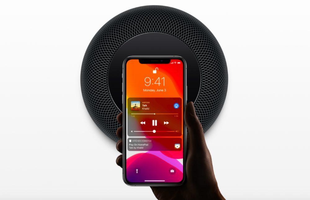 Apple HomePod Noir iPhone XS 1000x645 Apple a mis à jour le HomePod : Handoff, reconnaissance de la voix mais pas pour la France