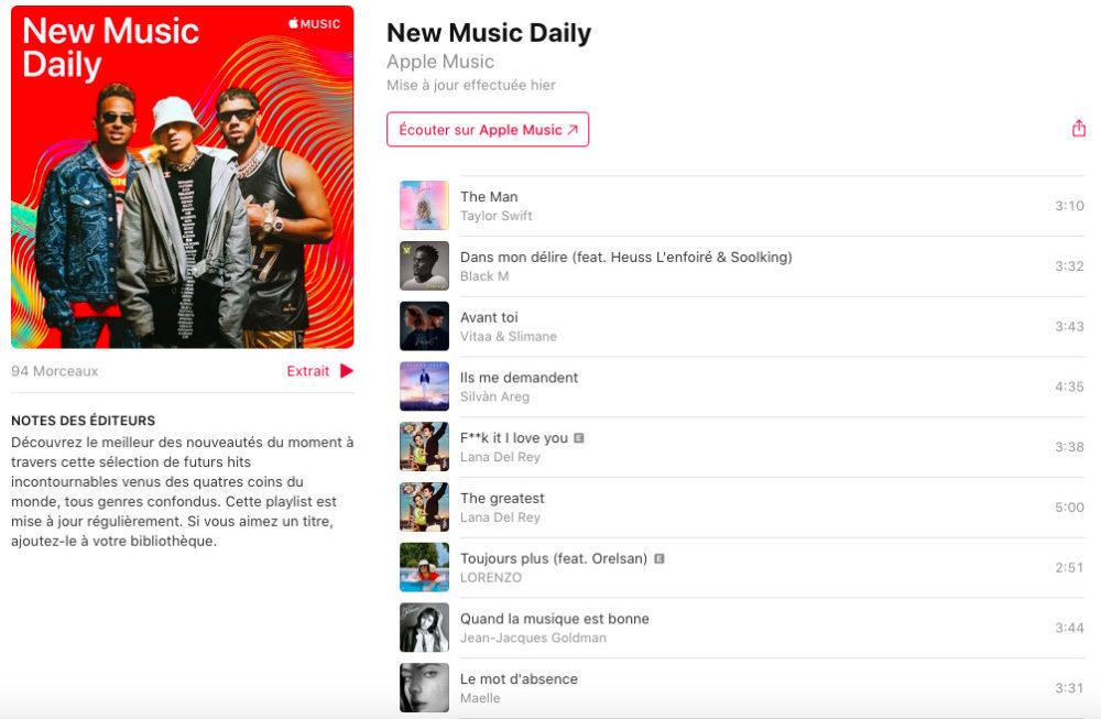 Apple Music Playlist 1000x653 Apple Music : Apple crée une playlist qui regroupe quotidiennement les nouvelles chansons