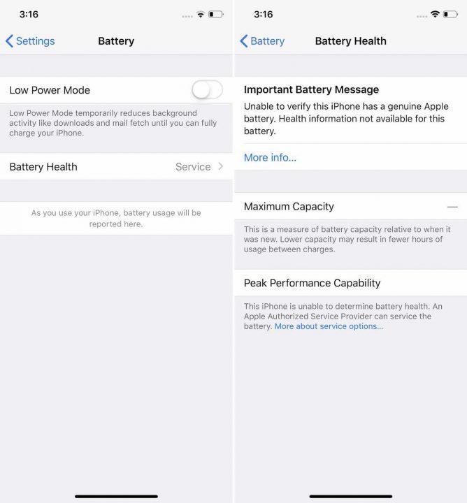 Batterie iPhone Message Erreur Apple ne veut vraiment pas que les utilisateurs changent tous seuls la batterie de leurs iPhone