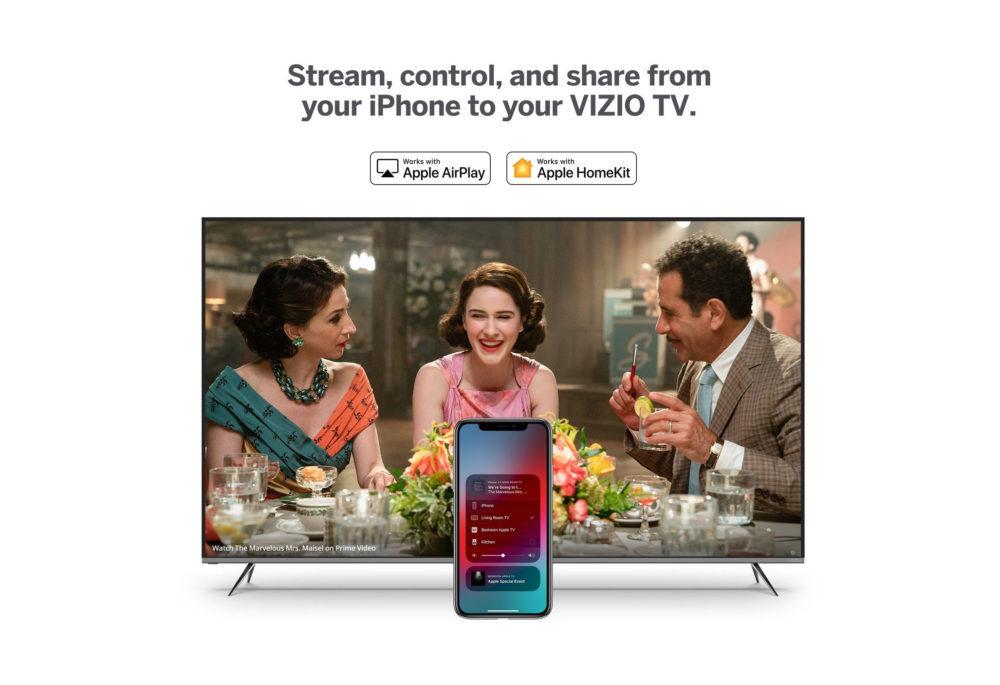 Vizio AirPlay 2 HomeKit 1000x685 Après LG, Vizio propose à son tour AirPlay 2 et HomeKit dApple sur ses TV connectées