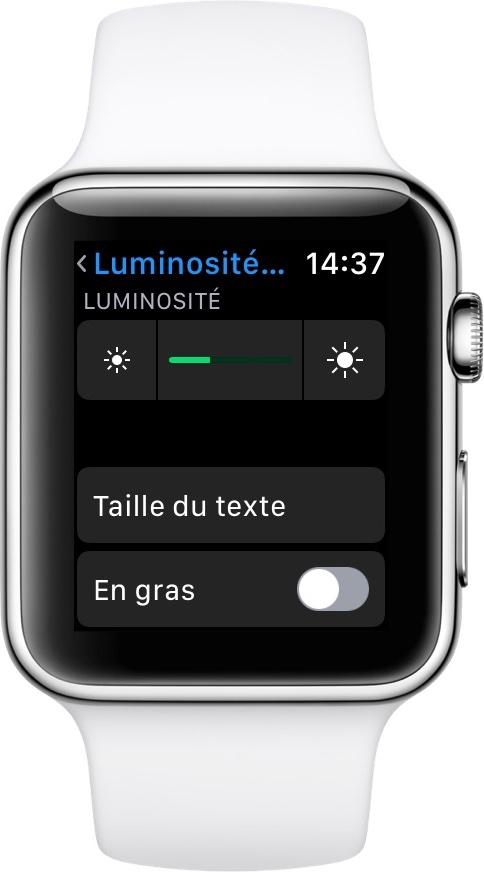 apple watch luminosite Comment améliorer l'autonomie de son Apple Watch ?